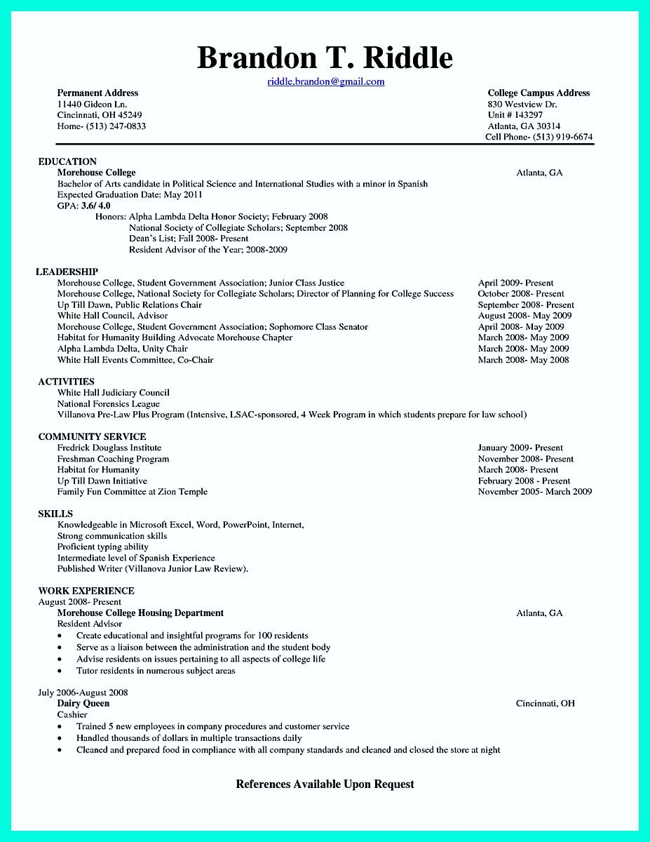 nice best college student resume example to get job instantly check