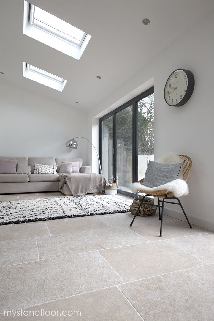 Dijon Tumbled Limestone Tiles And Pavers In 2020 Living Room