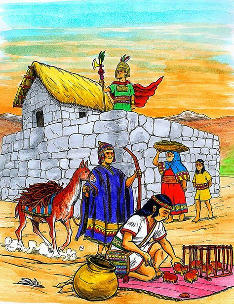 VIDA COTIDIANA | American art, Native american art, Inca