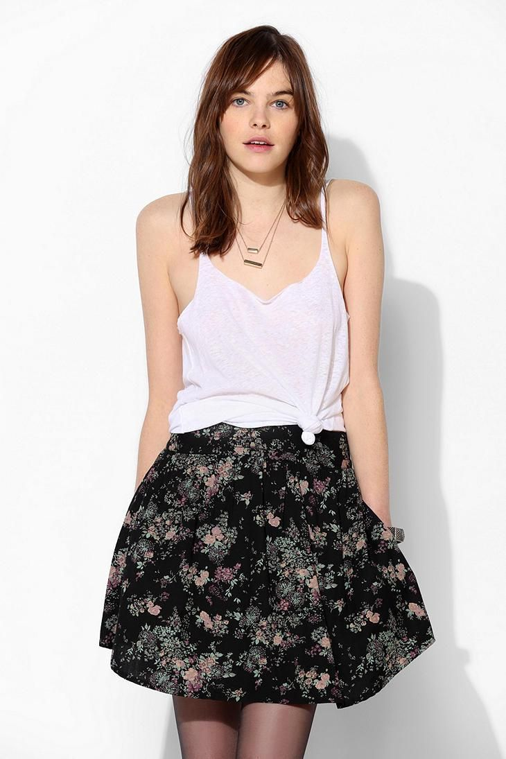 Bdg linen shirttail tank top urbanoutfitters fashion pinterest