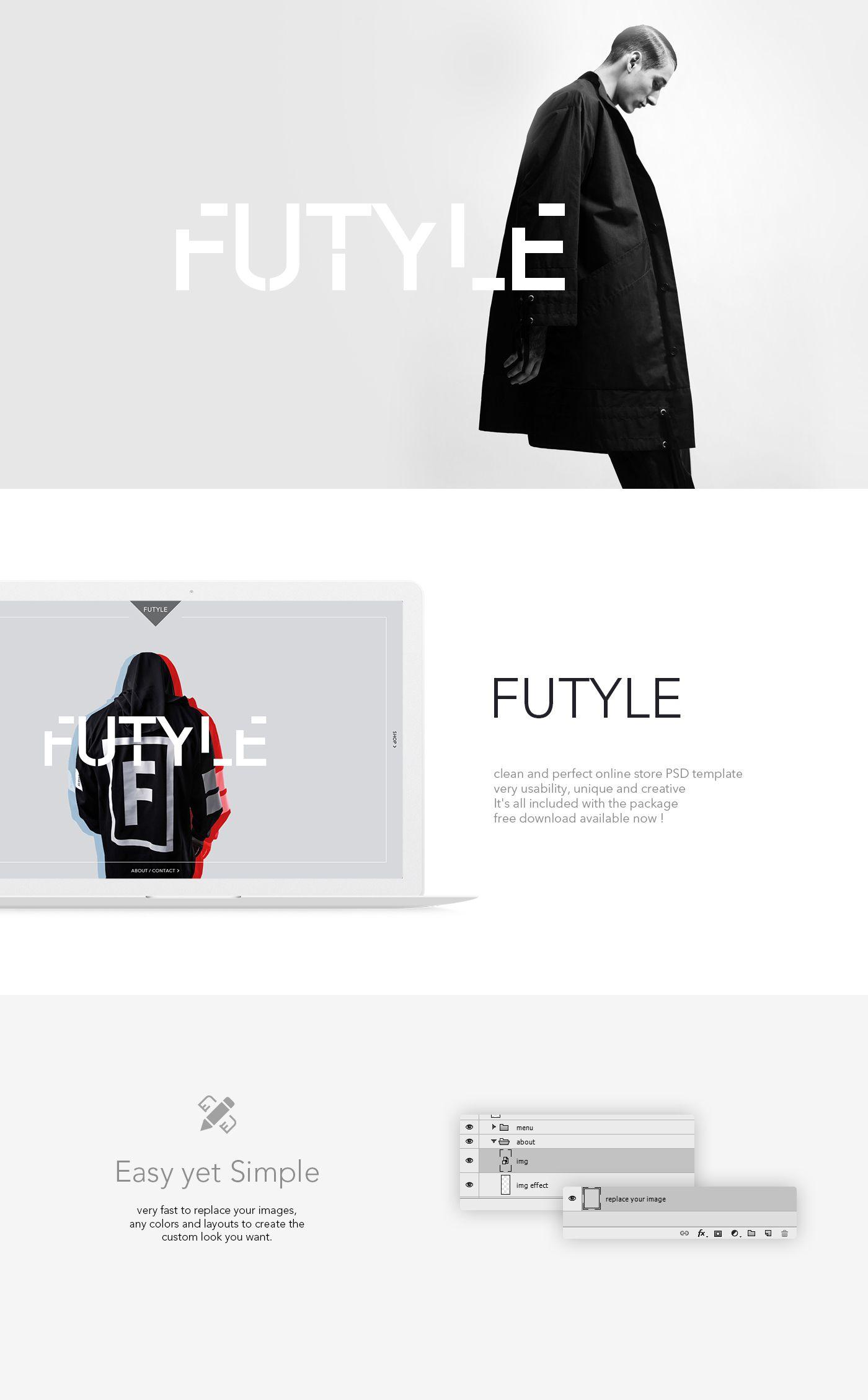 FUTYLE online store PSD Template - FreebiesTeam #free #download #psd ...