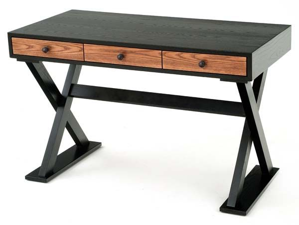 Small Desk Custom Sizes Eclectic Modern Chic Wood Desk X Base