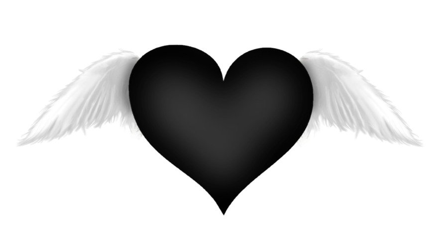 Black Heart With Wings Transparent Clipart Gallery Yopriceville High Quality Images And Transparent Png Free Black Heart Emoji Heart With Wings Dark Heart