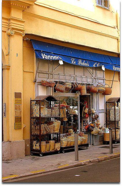 Vannerie/basket shop - Vieux Nice, France | Baskets | Pinterest ...