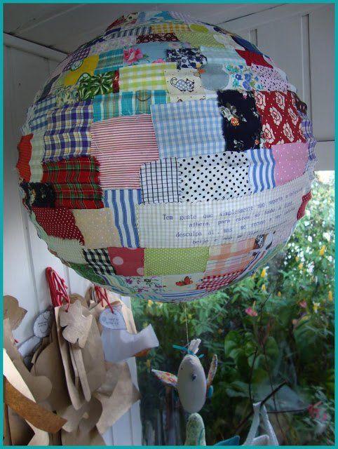 Hazlo Tú Mismo: Lámpara de papel con patchwork