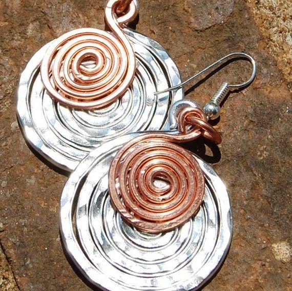 Copper Necklace. Minimalist. Copper. Coin. by Karismabykarajewelry