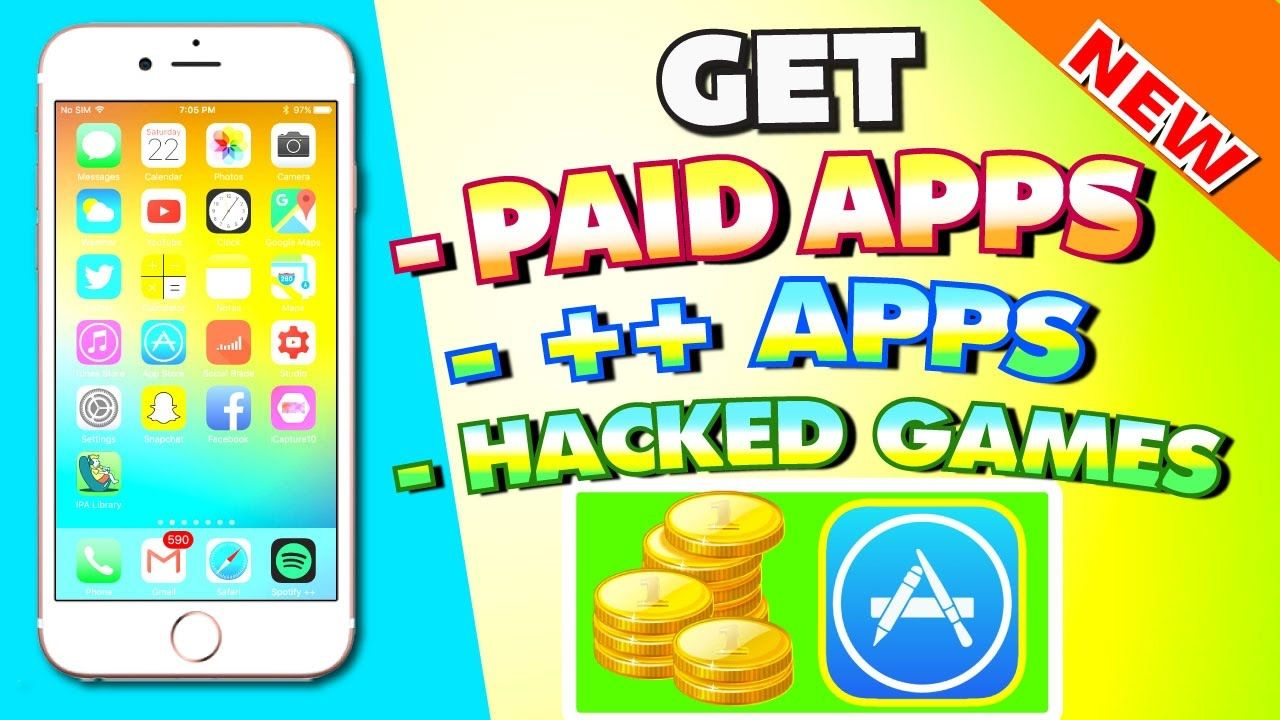 Get PAID Apps FREE + HACKED Apps/Games (NO JAILBREAK) (NO