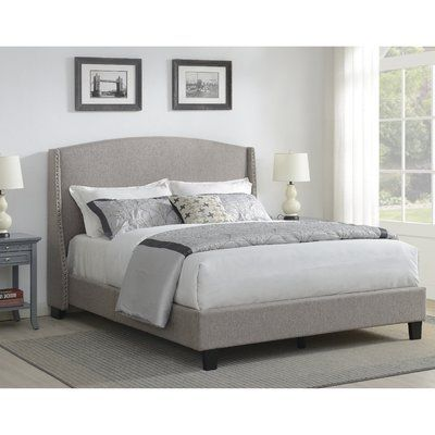 Chambery Shelter Back Queen Upholstered Panel Bed With