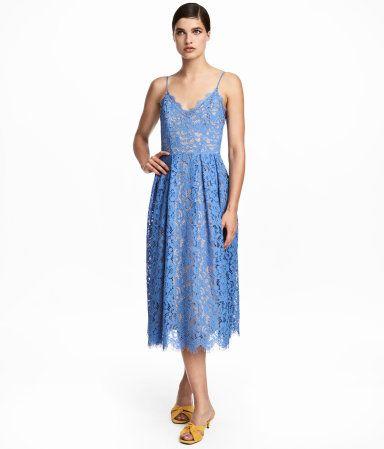 Spitzenkleid   Blau   Damen   H M DE   August17   Kleider, Blaues ... 50bbf252f5