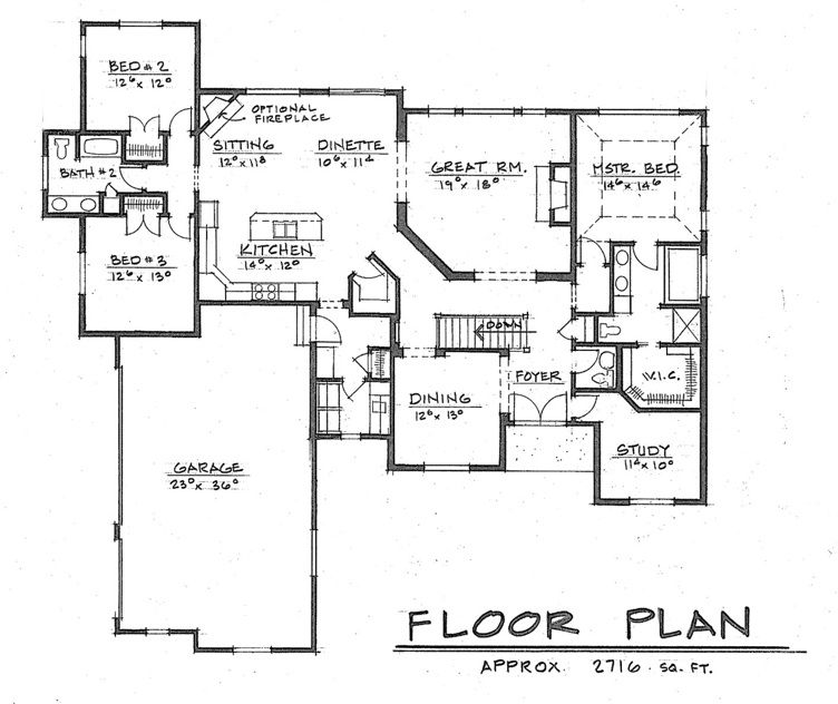 Ranch floor plans french country classic ranch for Classic ranch home plans