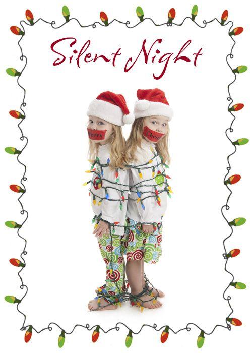 Damon Photography Version Of Silent Night Christmas Card Fun Christmas Cards Fun Christmas Photos Silent Night Christmas Card