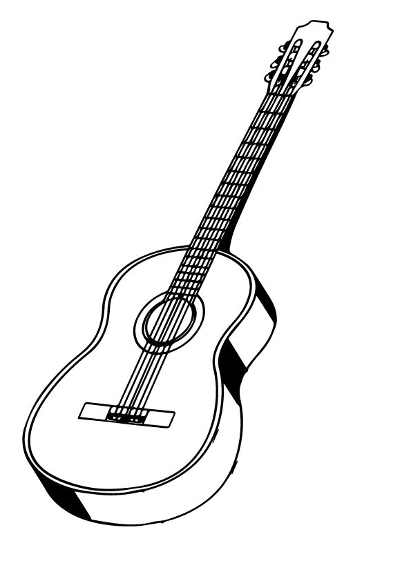 Click Share This Story On Facebook In 2020 Guitar Coloring Pages Easy Guitar