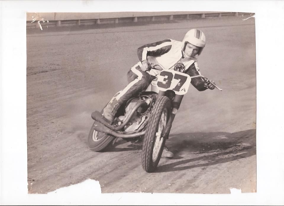 Chuck Palmgren Tulare September 25 1965, this is Gary Nixons bike, his Triumph 500,he sponsered Palmgren this year.Chuck works for Dan Gurney in Santa Ana California.