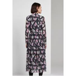Tom Tailor Denim Damen Gemustertes Midi-Kleid, schwarz, Gr.S Tom TailorTom Tailor #chocolatemarshmallowcookies