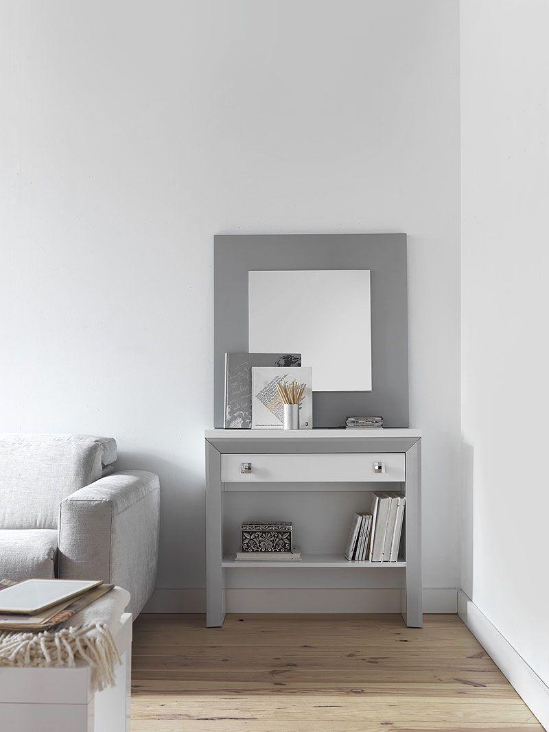 Mueble tipo consola blanco y plata muebles en 2019 - Mueble recibidor moderno ...
