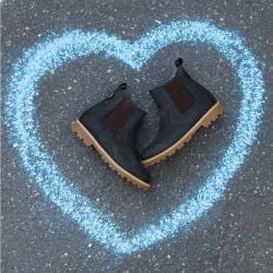 Chelsea-Boots, blau, Gr. 40 Jako-O