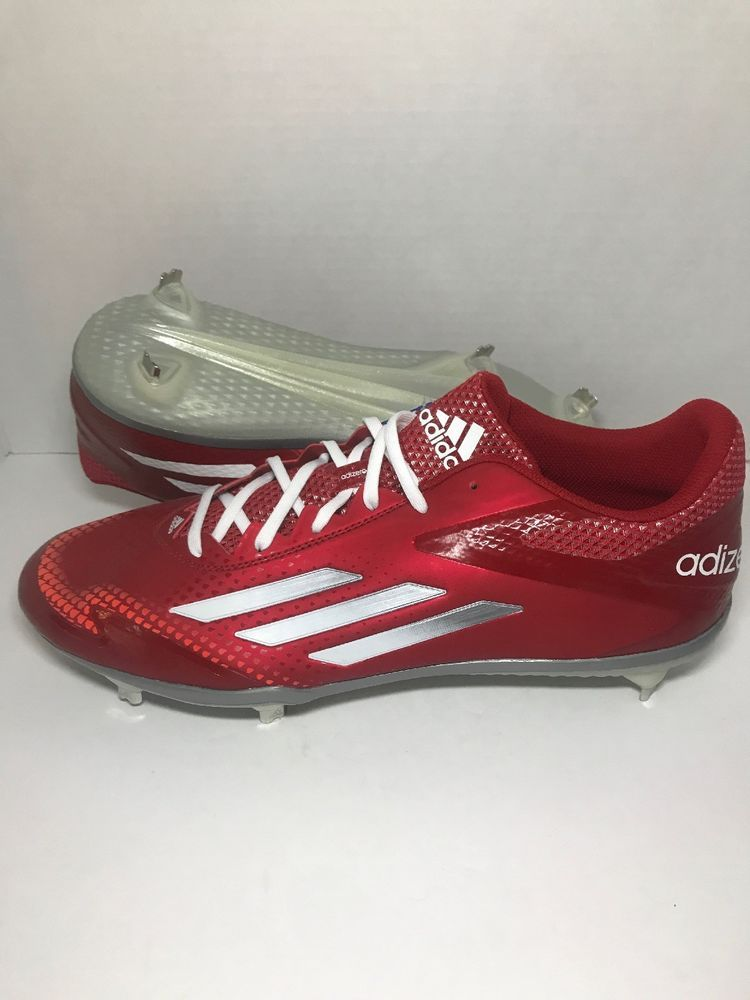 promo code 81732 e30df NEW Adidas Men s adizero Afterburner 2.0 Metal Baseball Cleats Red S84700  Sz 13 (eBay Link)