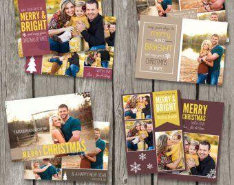 Rustic Christmas Cards Kraft Christmas Card Templates ...