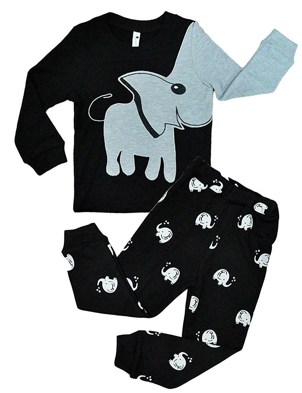 2pcs Cotton Baby Girl Kids T-shirt Top+Pants Pajamas Clothes Outfits Sets 1-7Y