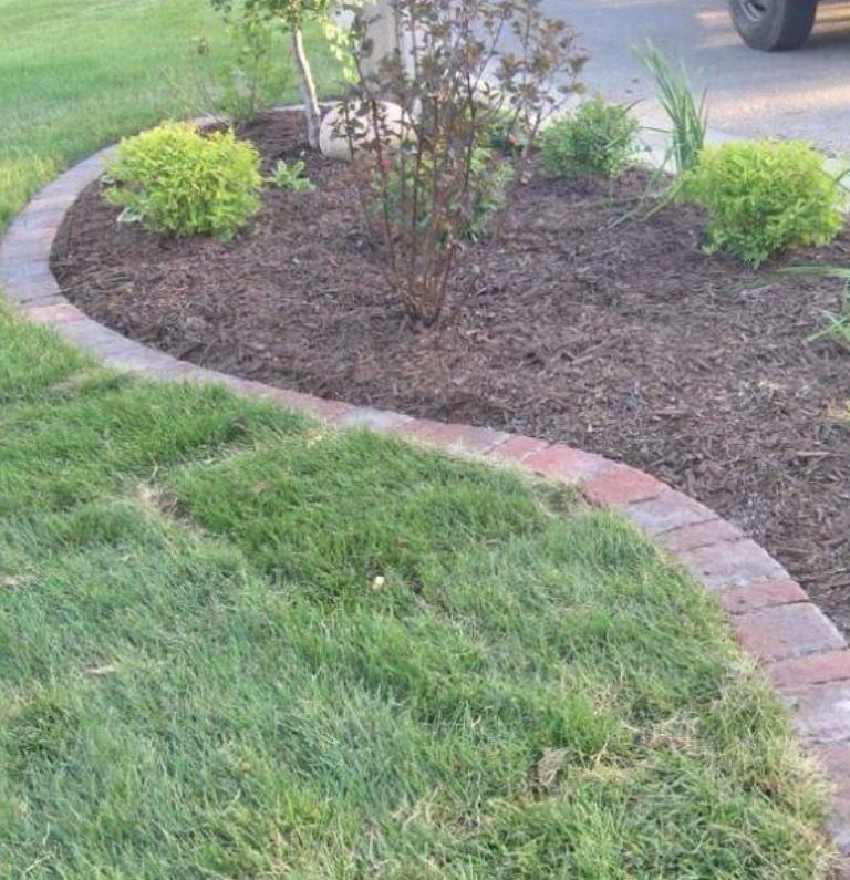 To Entry Concrete Paver Landscape Edging Double Brick
