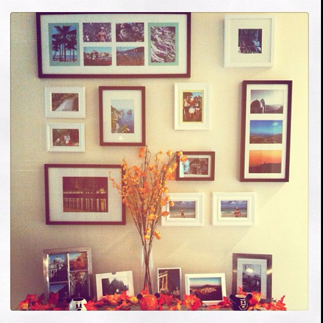 My picture wall! | For the Home | Pinterest | Picture walls, Frames ...