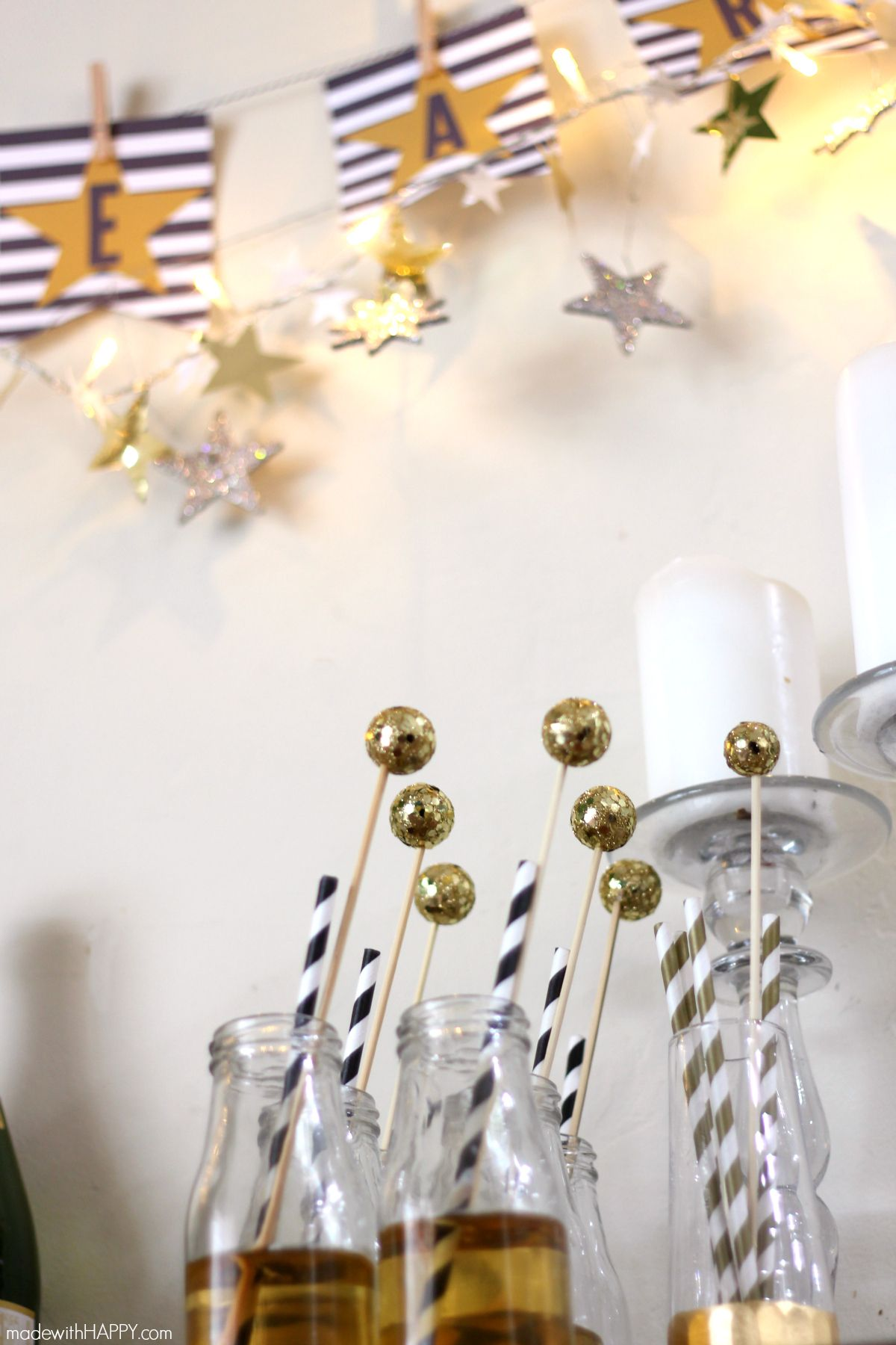 Kids New Years Eve Party | Black, White and Gold Kids Party ...