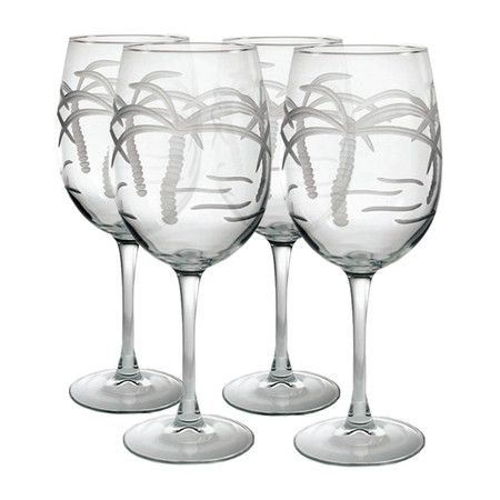 Add A Tropical Touch To Your Soiree With Palm Tree Etched