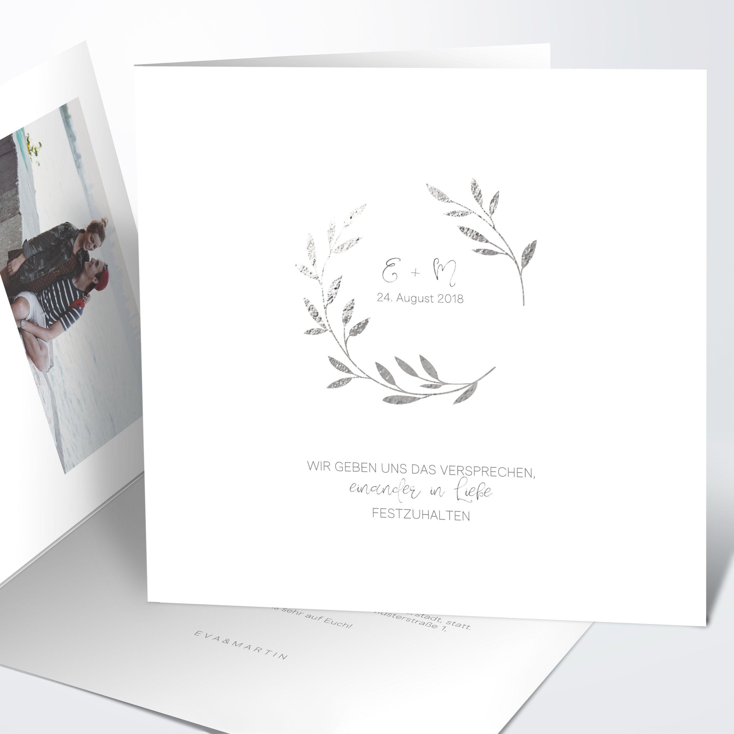 Hochzeitseinladung Zweiglein Detail Einladungen Hochzeit Hochzeitseinladung Einladungen