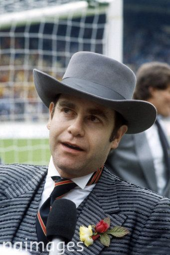 Watford Chairman Elton John on the pitch before the match