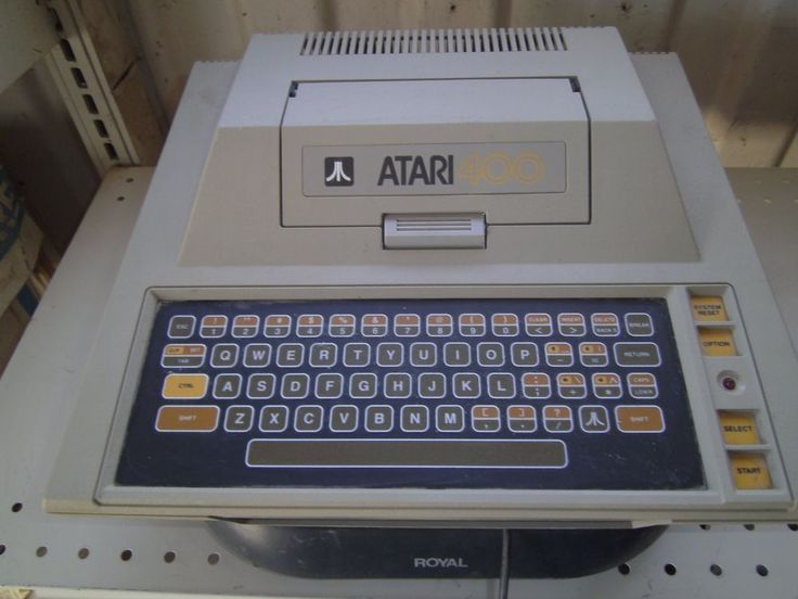 Atari 400 Computer. This was our first family computer. I think my parents took a second mortgage to buy it.: