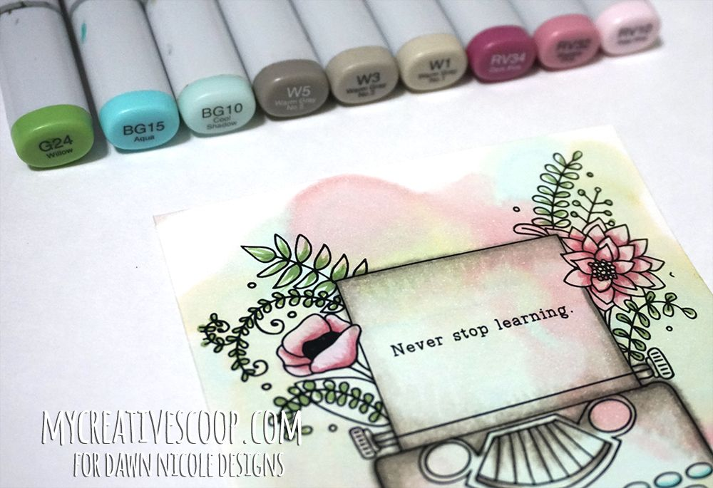How to Watercolor using Copic Markers