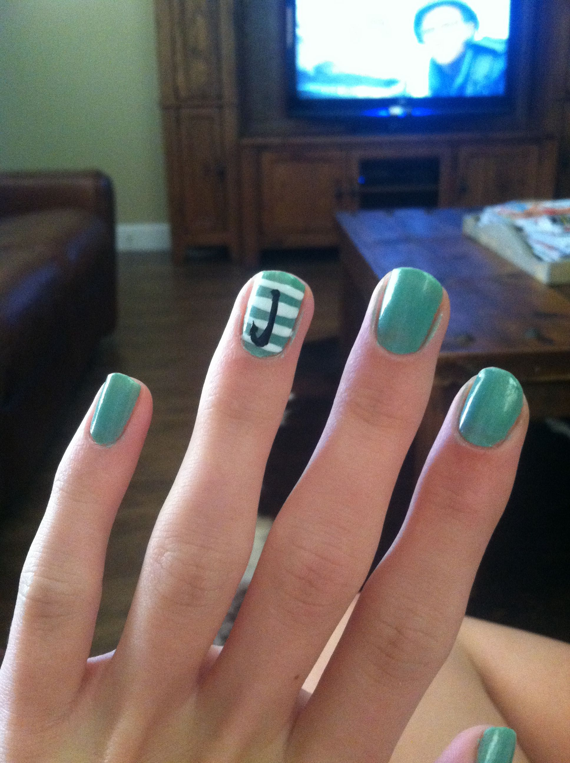 Fish hook nails :) | Nails Designs | Nautical nails ...
