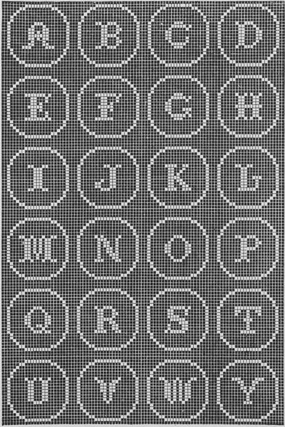 Free Vintage Filet Crochet Alphabet #filetcrochet