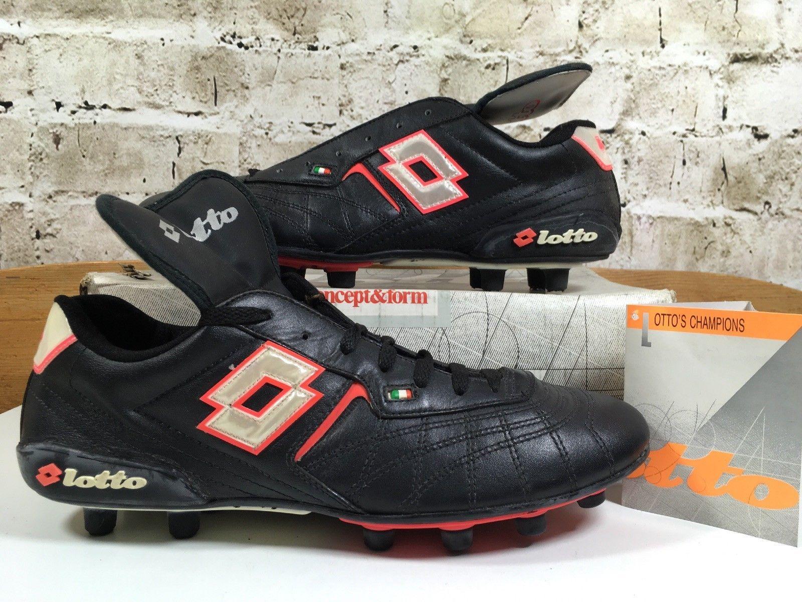 Vintage 1990s Lotto Romario Football Boots Uk 8 5 Us9 5 Eu42 5 Rare Soccer Cleat Ebay Zapatos De Futbol Zapatos Futbol