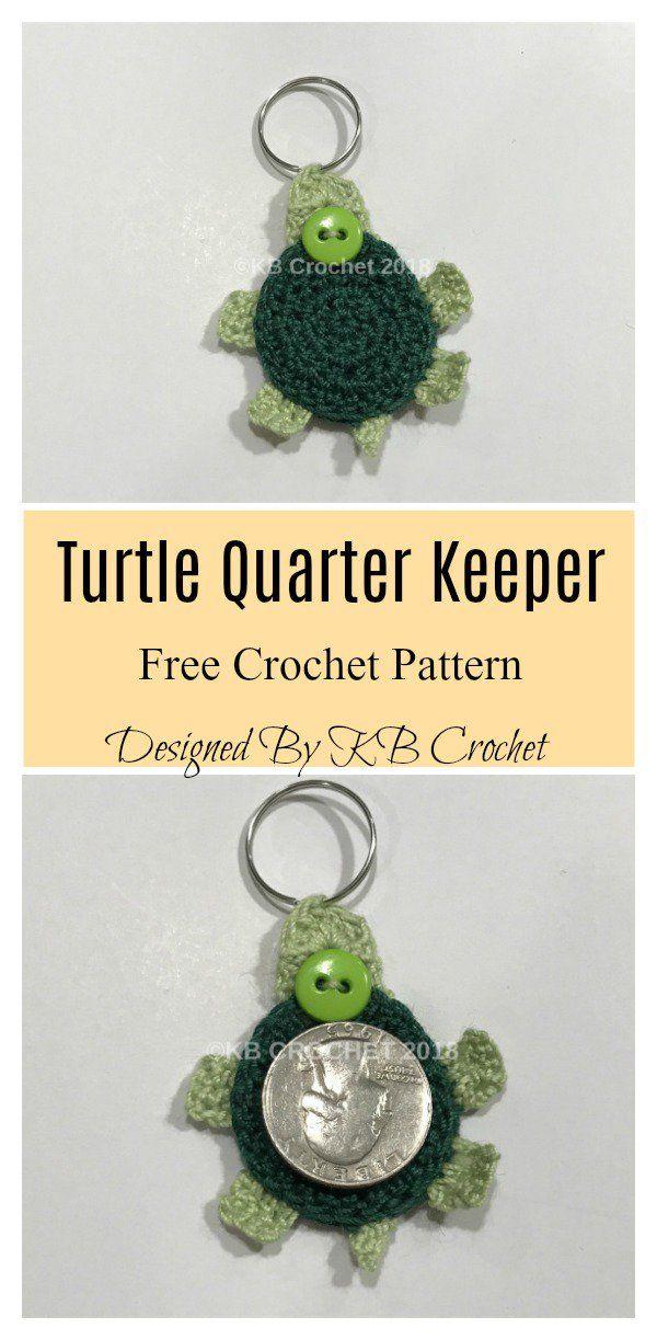 Quarter Keeper Keychain Free Crochet Pattern   CRAFTS!!!   Pinterest ...