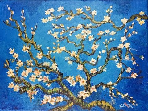 Cookie Crumbs Live Lesson With Ginger Cook Monday At 7 30pm Central Youtube Van Gogh Almond Blossom Acrylic Painting Tutorials Painting Tutorial
