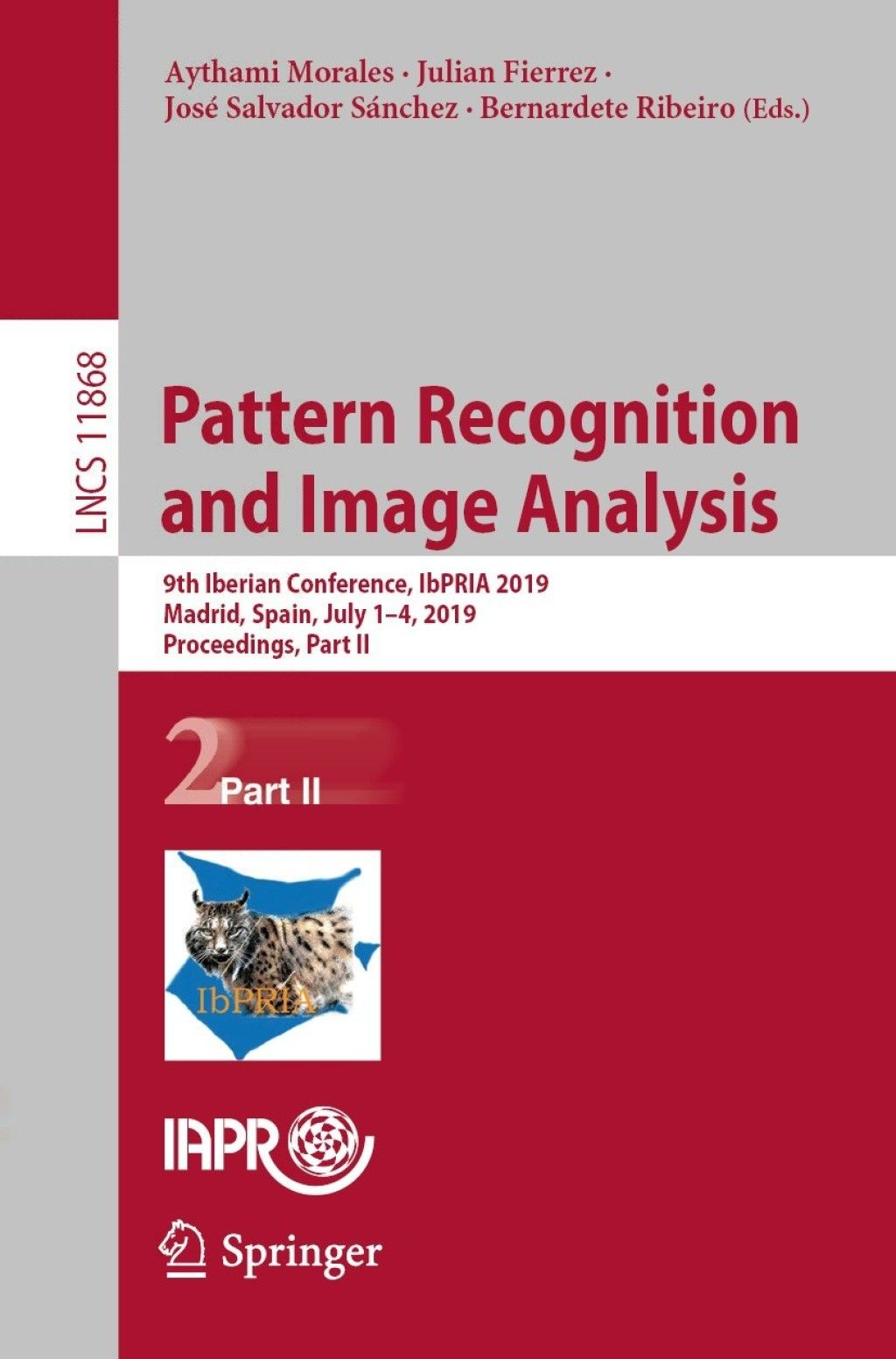 Pattern Recognition And Image Analysis Ebook Pattern