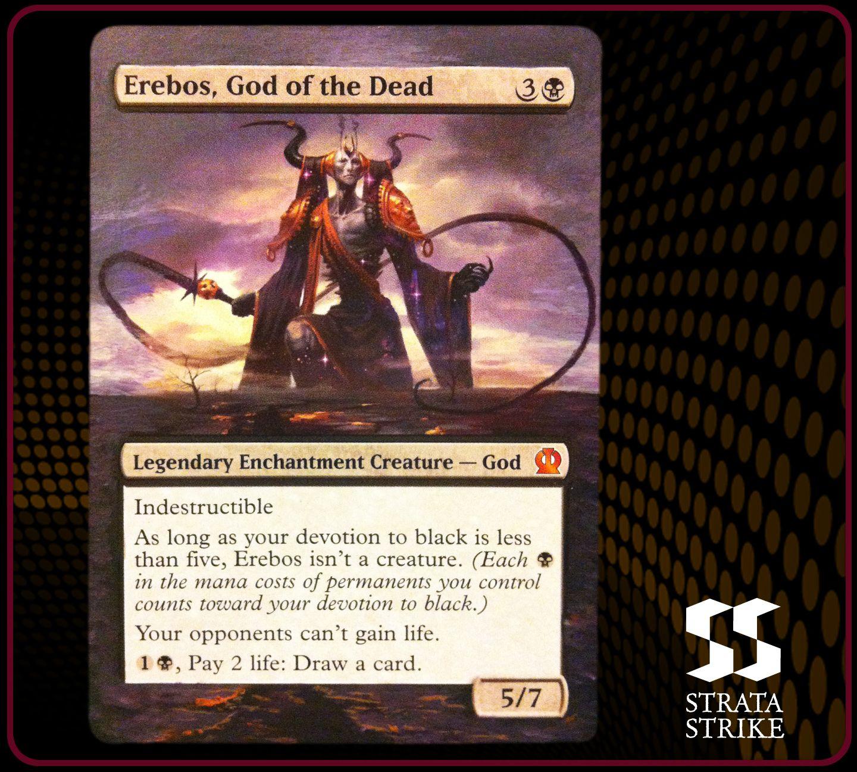 Erebos, God of the Dead - 2014 Strata Strike Magic the Gathering (MTG) alter. www.stratastrike.com