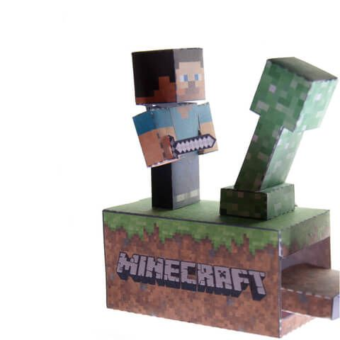 Minecraft Battle Paper Craft Model From Paper Models Category