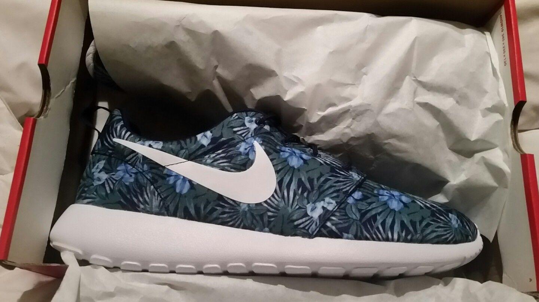 Nike Roshe One Print Premium Loyal Blue White Floral 833620