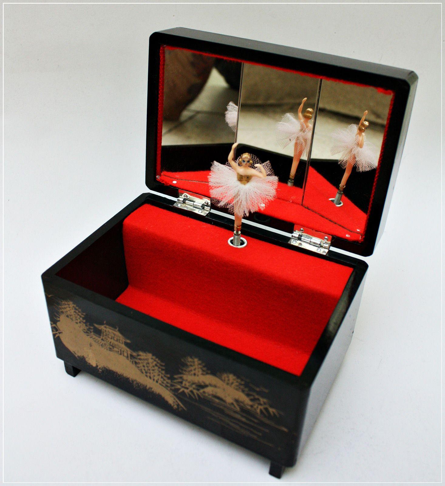 anime wooden music box