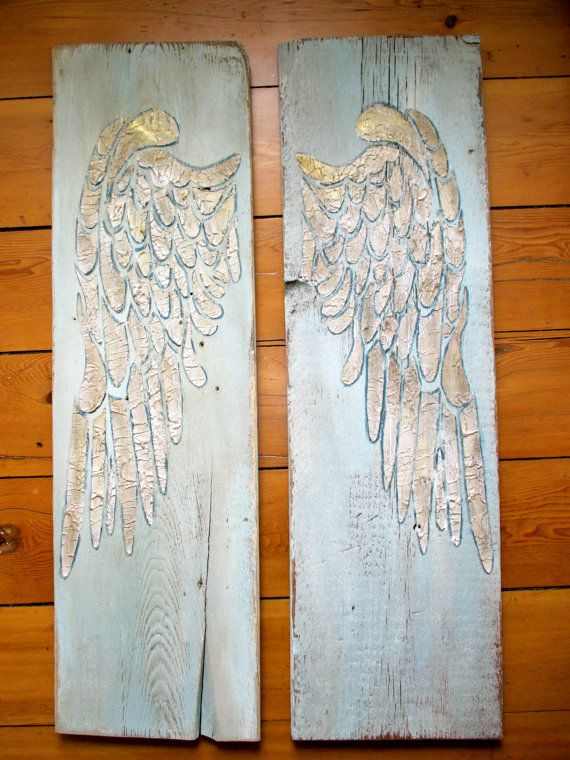 Angel Wing Wall Decor, Wings, Large Angel Wings, Carved ...