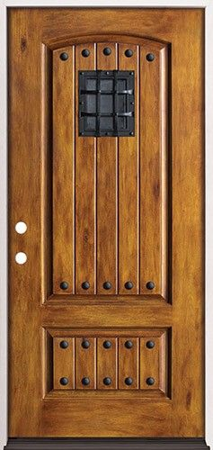 Rustic Pre-finished Fiberglass Prehung Door Unit with Speakeasy \u0026 Clavos & Rustic Pre-finished Fiberglass Prehung Door Unit with Speakeasy ... Pezcame.Com