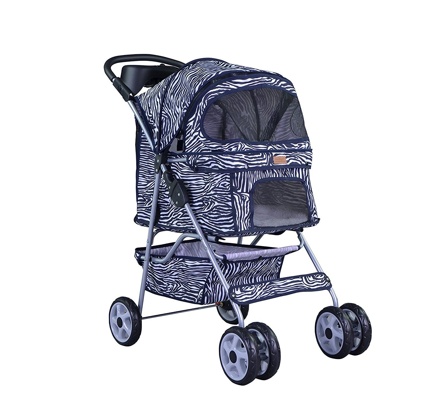 4 Wheels Pet Dog Cat Stroller w/RainCover All Colors