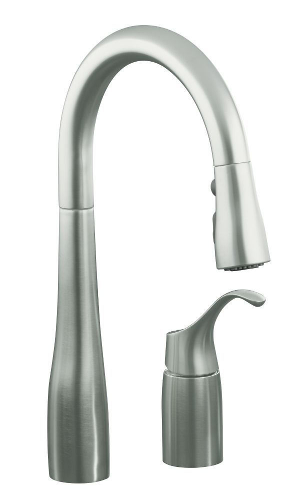 Simplice Pull Down Secondary Sink Faucet In Vibrant Stainless