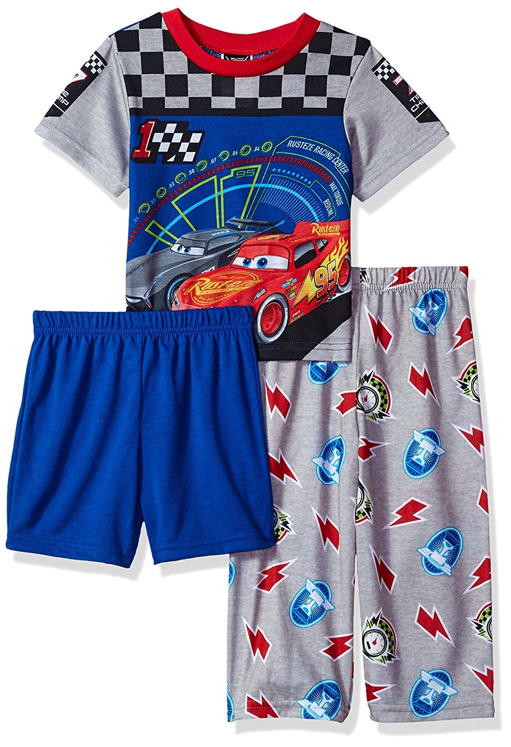 f38ddfe76 Disney Boys  Cars 3-Piece Pajama Set