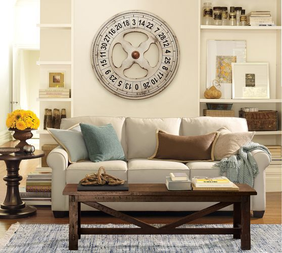 Buchanan Roll Arm Upholstered Sofa Pottery Barn Living Room