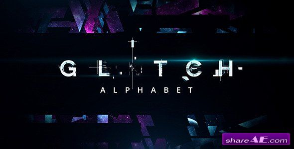 Glitch Alphabet - After Effects Templates (Videohive) | Videography ...