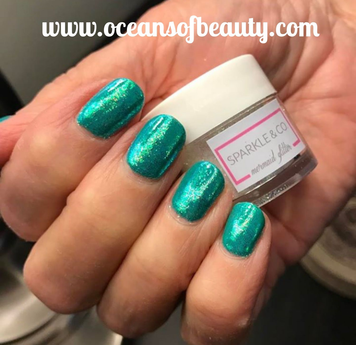 Mermaid Glitter Visit www.oceansofbeauty.com for EZ Dip Gel Powder ...