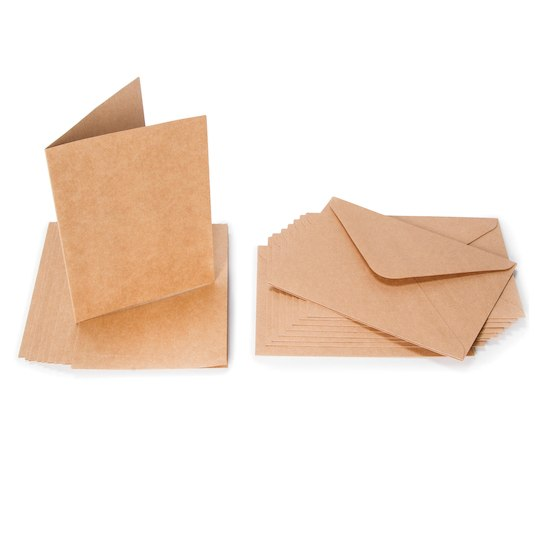 Recycled Pocket invitations with envelopes POCKETFOLD Eco Kraft Natural